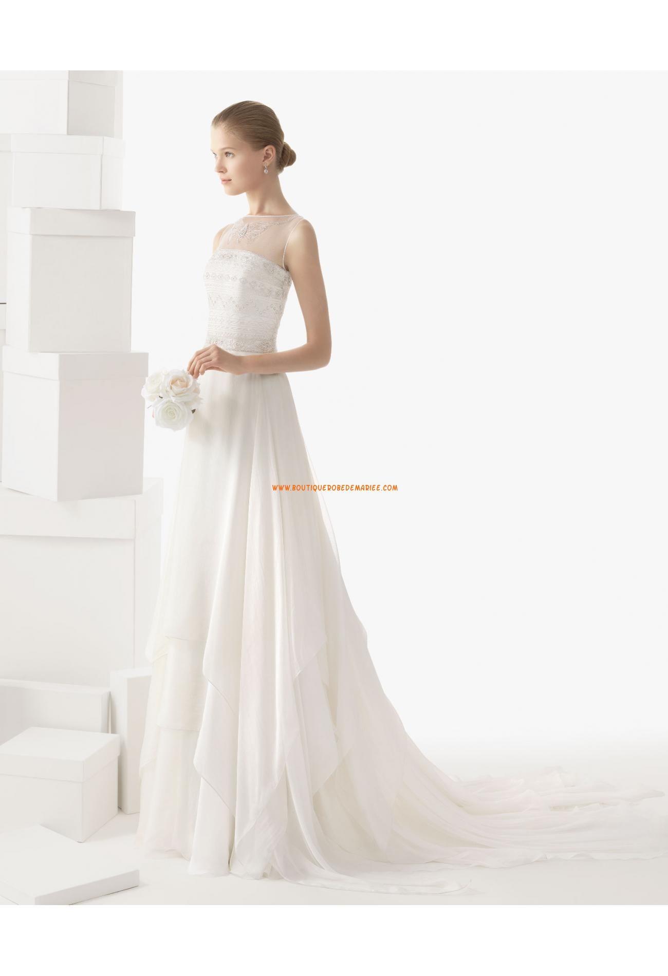 One of a kind wedding dresses  Robe de marie mousseline bustier perles cristal  wedding needed
