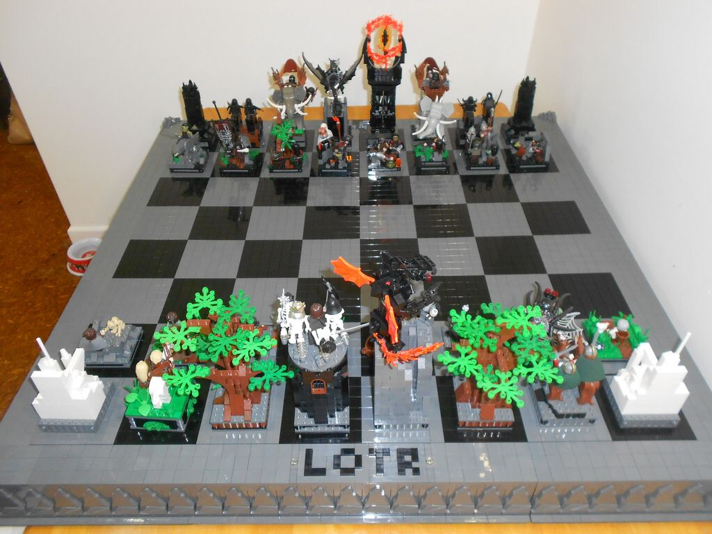 Lotr With Images Lego Chess Chess Board Lotr