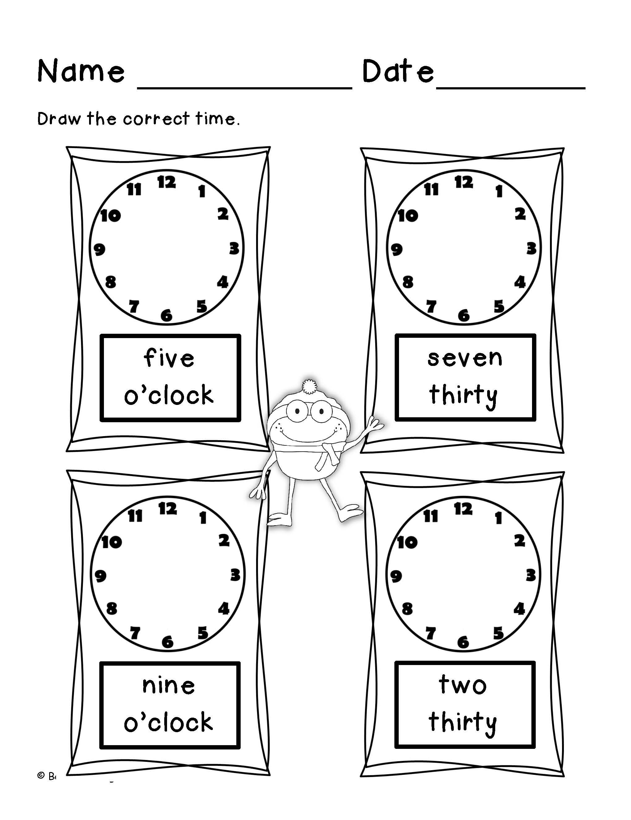 Counting Money Telling Time First Grade Math Time And Money Math