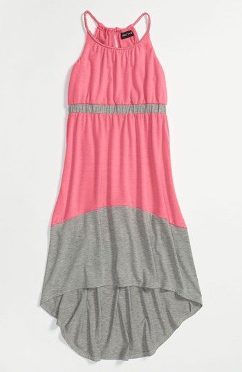 Cute dress for katie! Paper Doll Colorblock Maxi Dress (Little ...