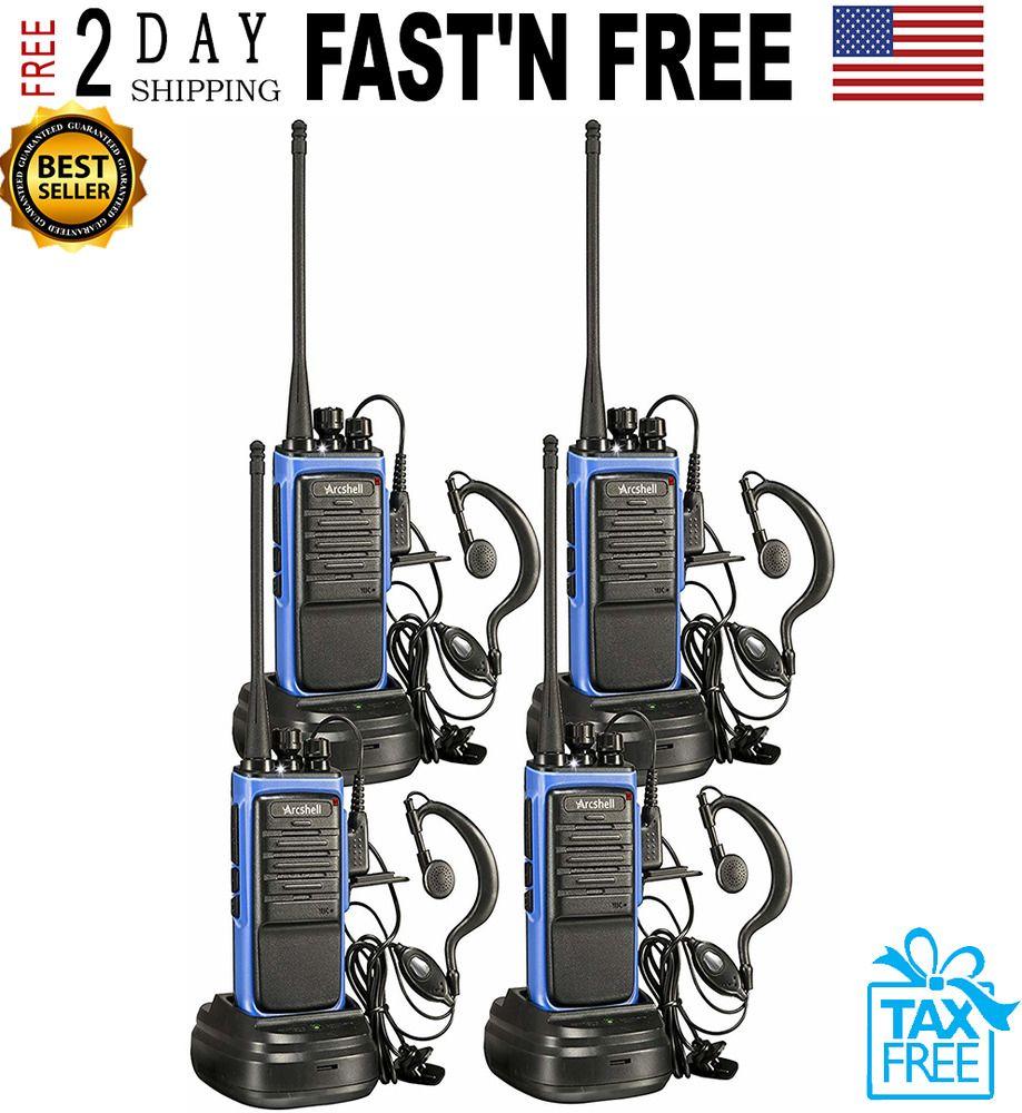 Long Range Walkie Talkie 2 Set 50 Mile Two Way Radio Charge Headset Waterproof..