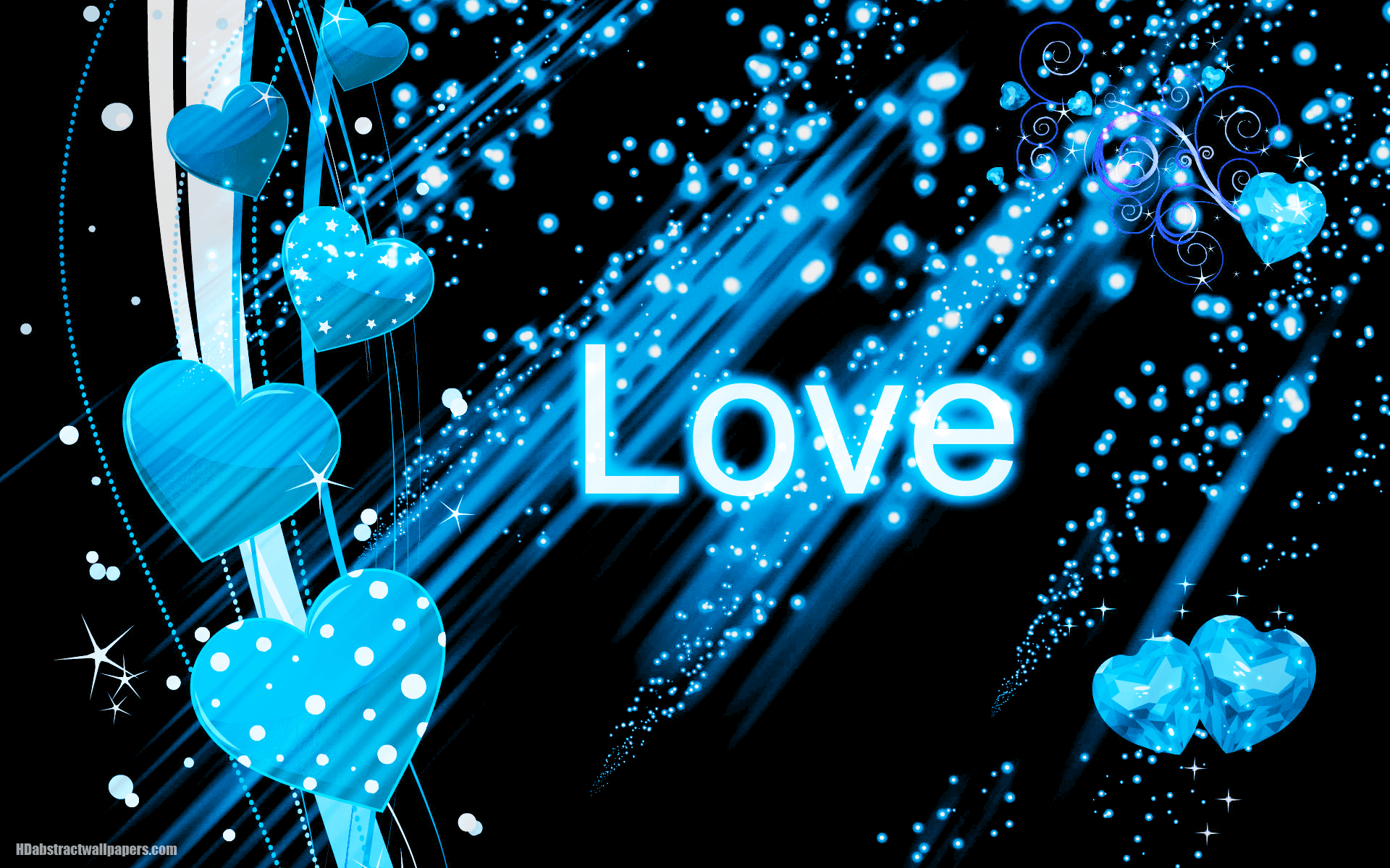 Black abstract wallpaper blue love hearts text love black abstract wallpaper blue love hearts text love voltagebd Choice Image
