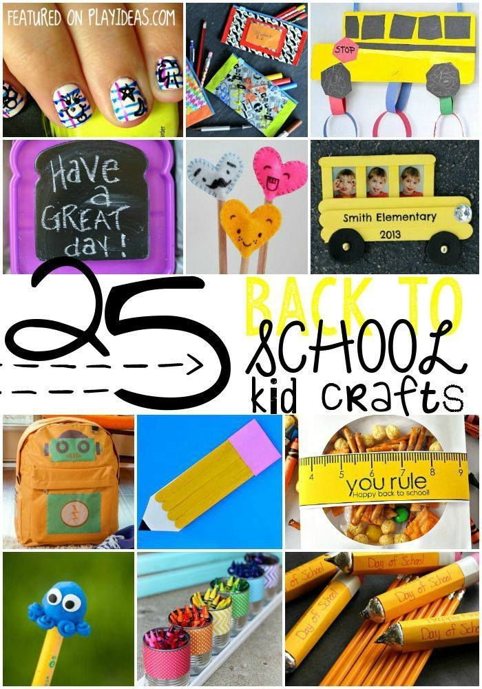 25 Back To School Crafts For Kids Back To School Crafts For Kids