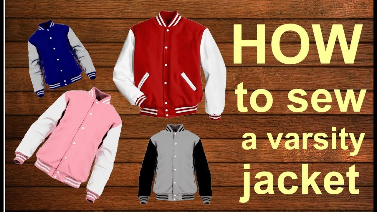 DIY HOW TO SEW A VARSITY JACKET . BASEBALL JACKET . cara