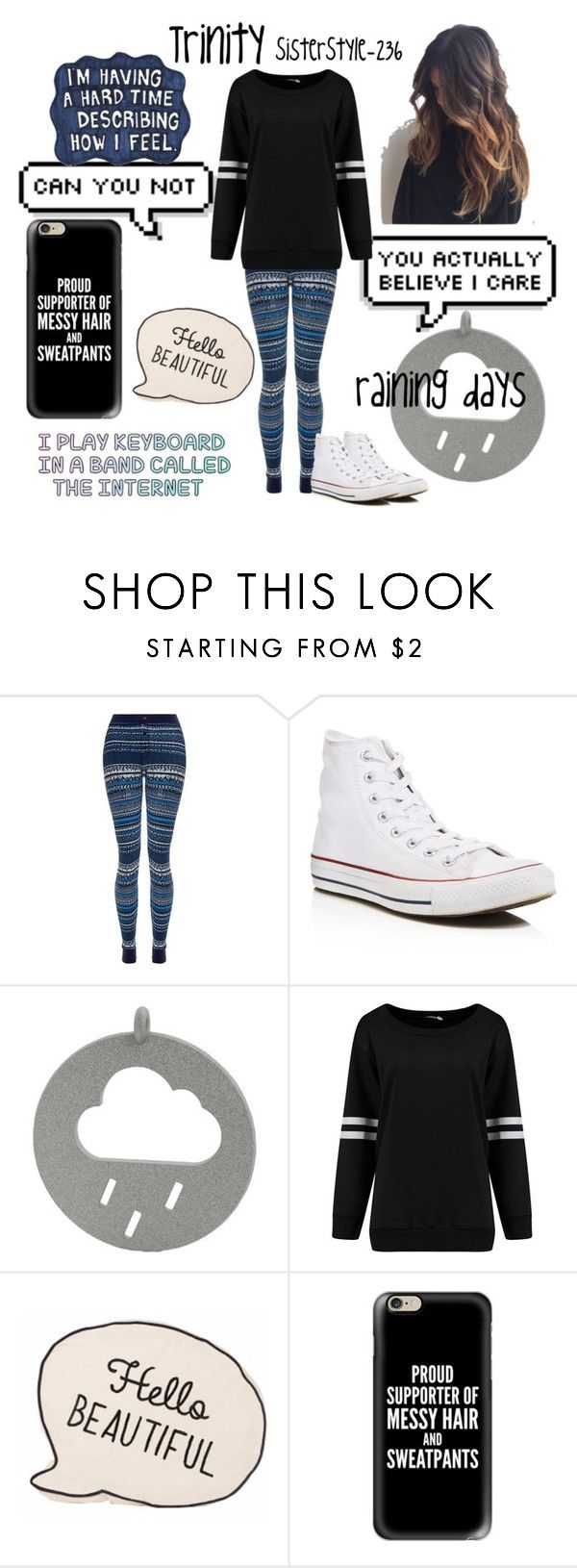 """""""Rainy days"""" by sisterstyle-236 ❤ liked on Polyvore featuring Splendid, Converse, Sharpie and Casetify"""