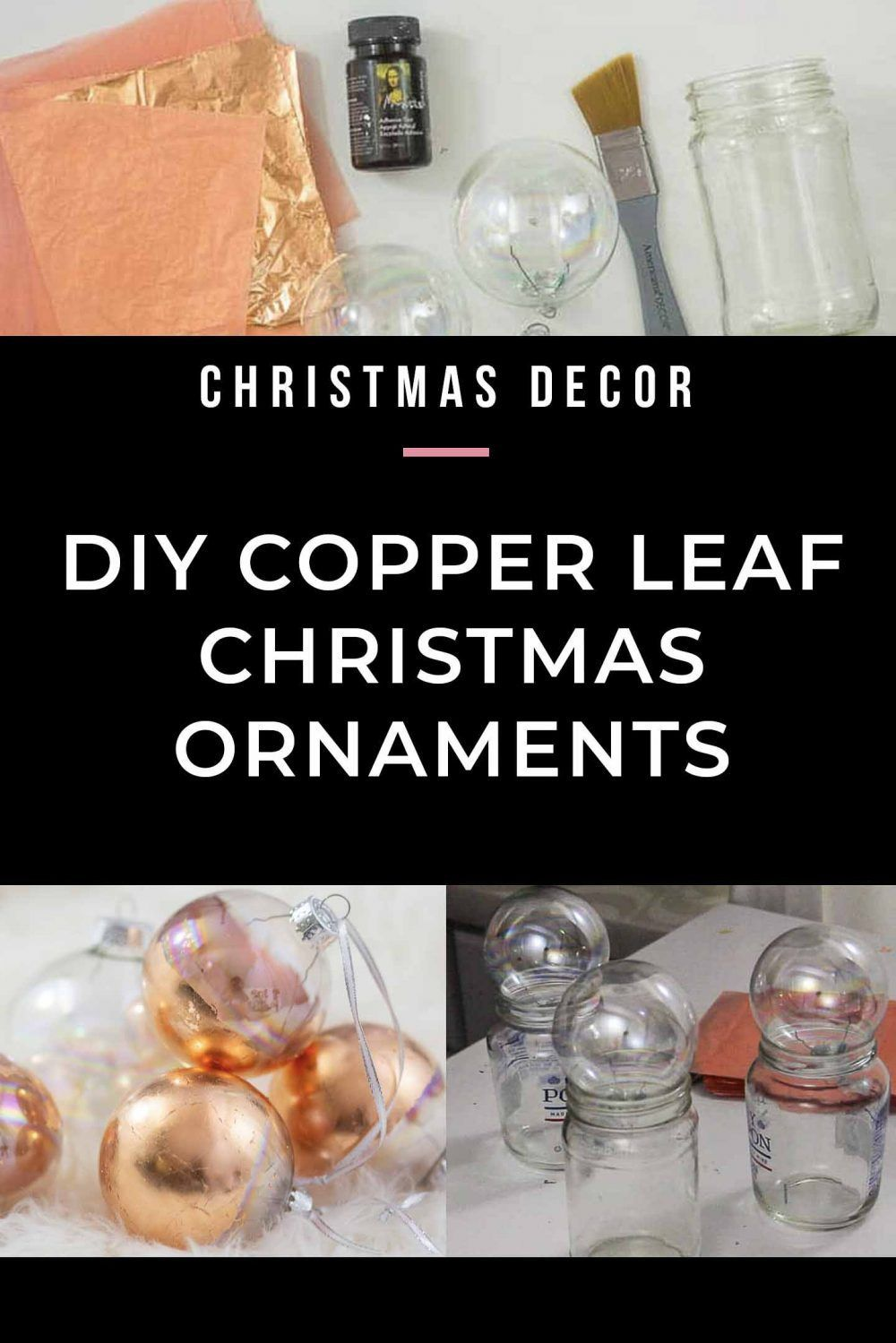 Easy DIY Copper Christmas Ornaments (+ 21 Other Creative Christmas Ideas) These DIY copper Christmas ornaments will add an elegant touch to your Christmas tree decorations this season. Click through to find out how easy they are to make, even if you are on a budget.