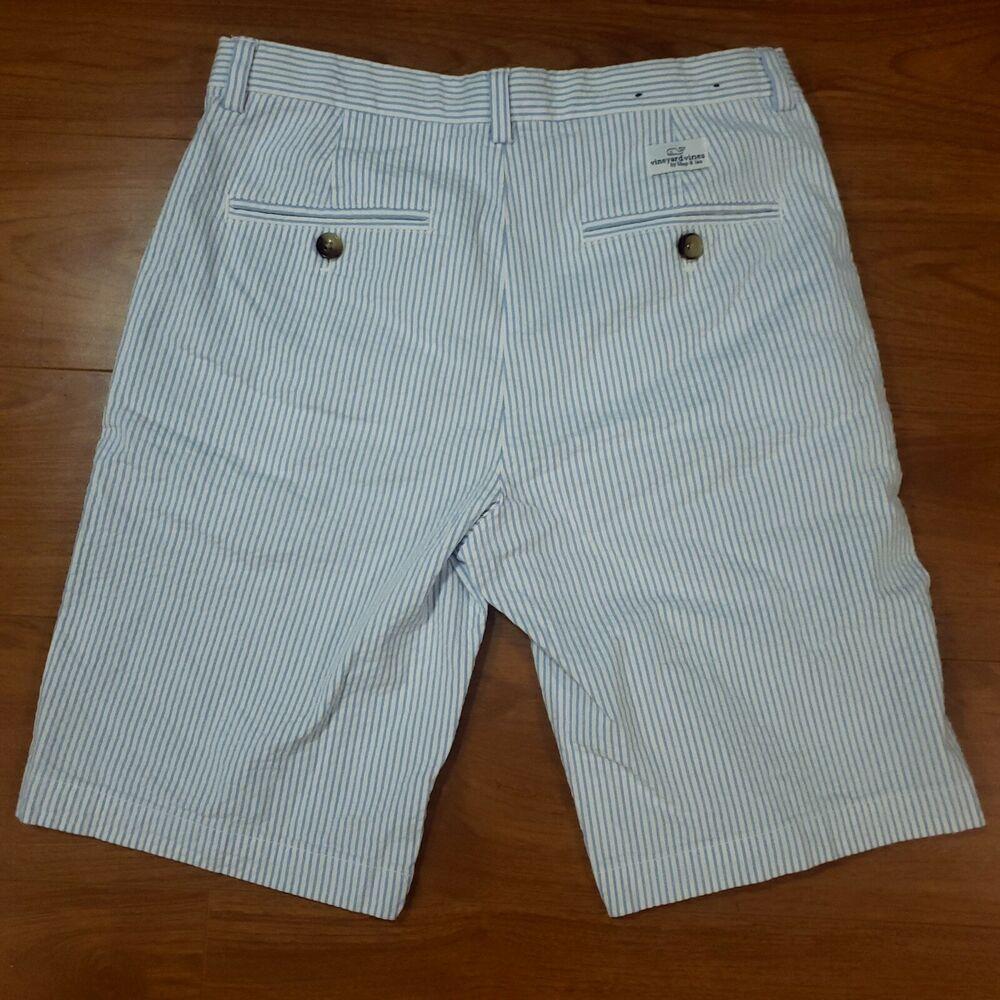 6a925db910 Vineyard Vines Kid Boys Seersucker Light Blue Breaker Shorts Size 16  #fashion #clothing #