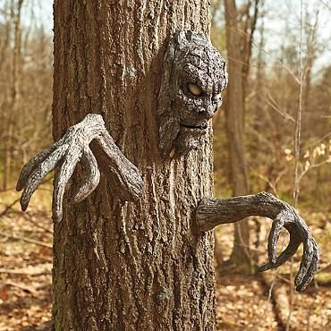 Tree Face And Arms Set Halloween Outdoor Decorations Halloween Diy Outdoor Outdoor Halloween
