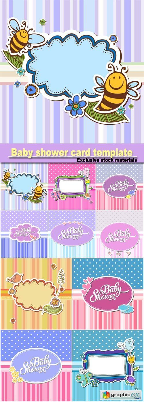 Baby Shower Card Template  Game Ideas    Card
