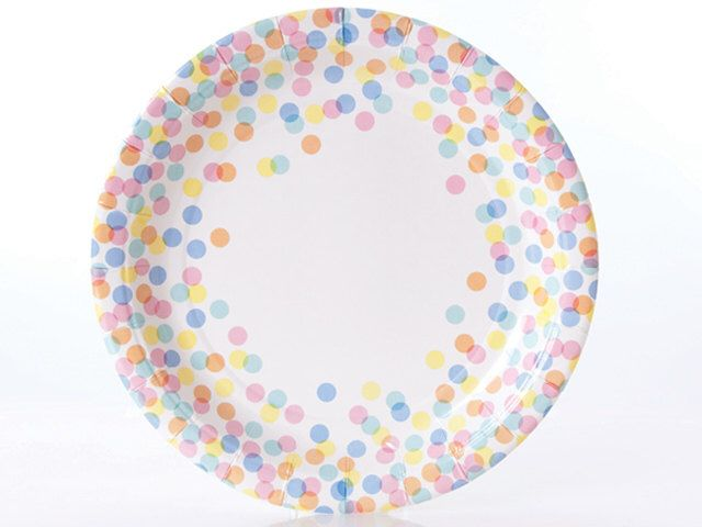 Plates | Confetti Dot Paper Plates | Multi-Colored Dots | Polka Dots | Quality Paper Plates | Party Supplies | The Party Darling  sc 1 st  Pinterest & Plates | Confetti Dot Paper Plates | Multi-Colored Dots | Polka Dots ...