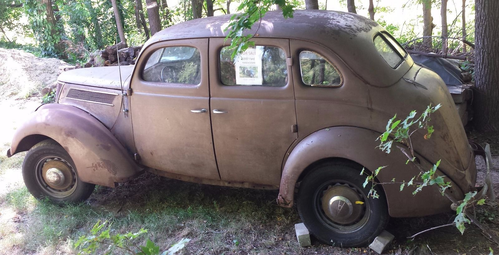 1937 ford fordor sedan project car for sale