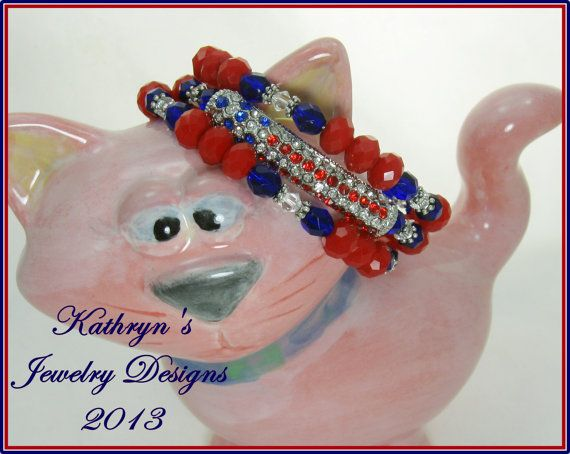 Bring in the 4th and more with Red White by KathrynsJewelryDesig,