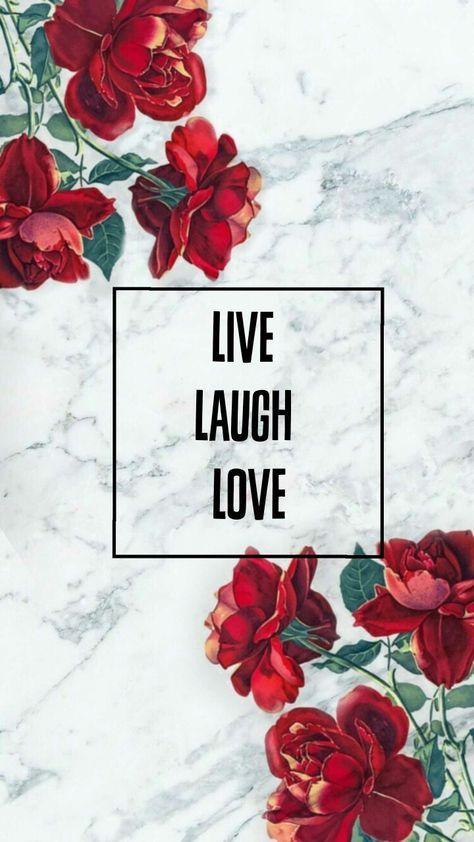 Wallpaper Red Live Laugh Love Bakgrunder Bakgrundsbilder