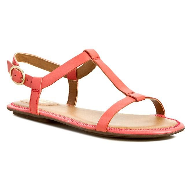 Sandals · Sandały CLARKS - Risi Hop 261088614 Coral Leather