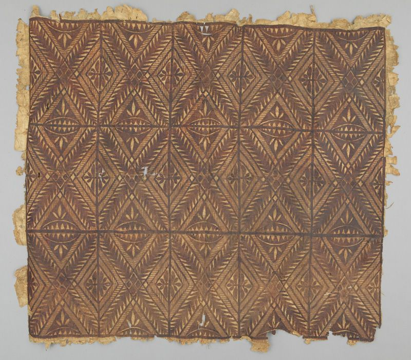 Bark Cloth siapo Oceania: Pacific Islands, Polynesia, Samoa Islands 20th century
