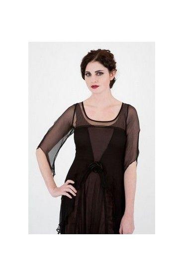 Nataya 10709 Great Gatsby Dress in Black-Coco