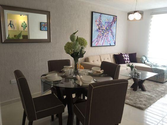 Decoraciones de salas y comedores juntos | estancia | Pinterest ...