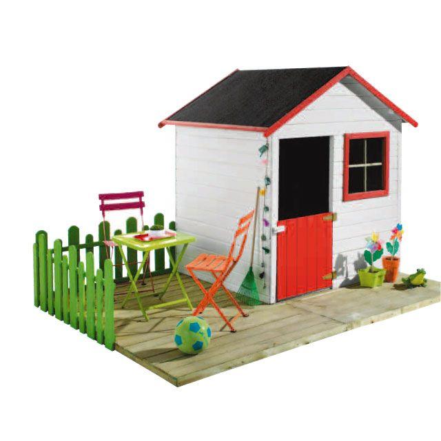 maisonnette cabane enfant achat vente maisonnette et chalet en bois naturel bois et poterie. Black Bedroom Furniture Sets. Home Design Ideas