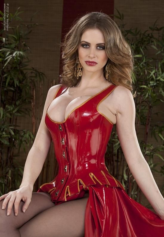Emily Addison In The Sexiest Latex Dress Aznude 1