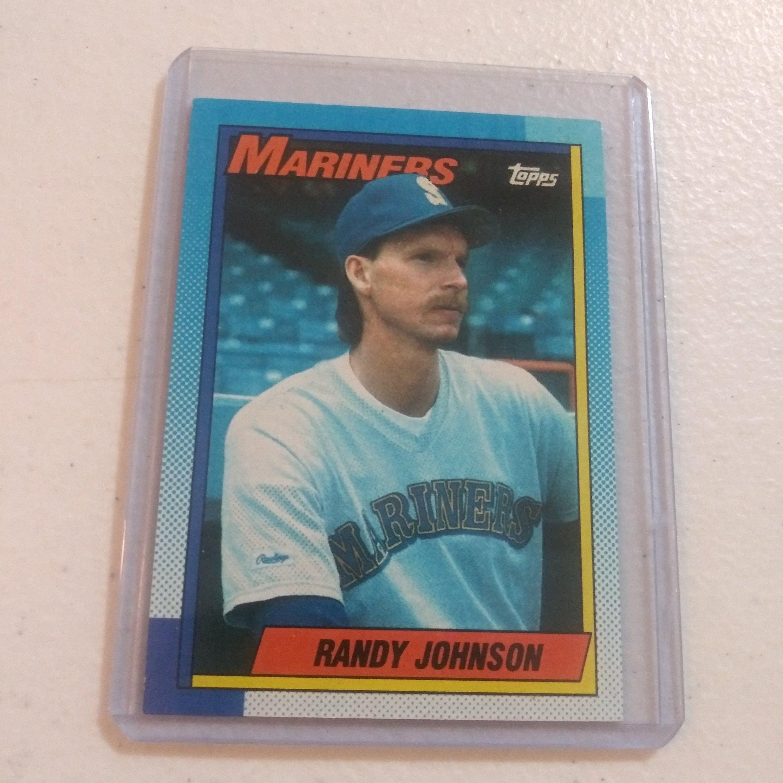 Randy Johnson 1990 Topps 431 Baseball Card Etsy In 2021 Baseball Cards Baseball Collector Cards