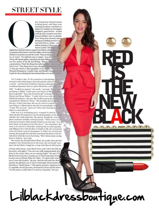 """RED IS THE NEW BLACK"" by blackdressboutique ❤ liked on Polyvore"