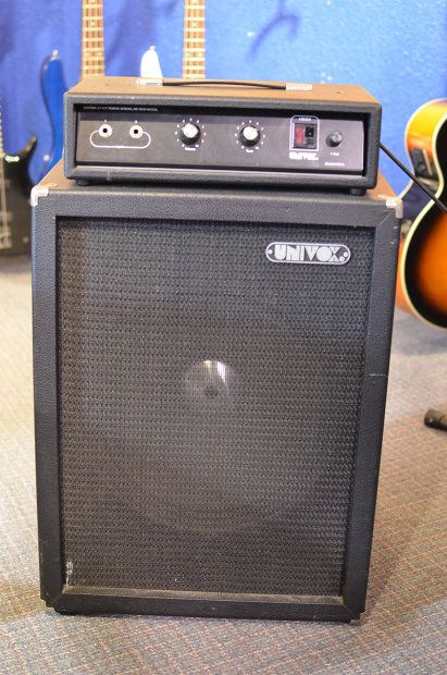 Univox Ub 250 Head And Cabinet Bass Amp Main Stage Music Reverb Bass Amps Bass Recorder Music
