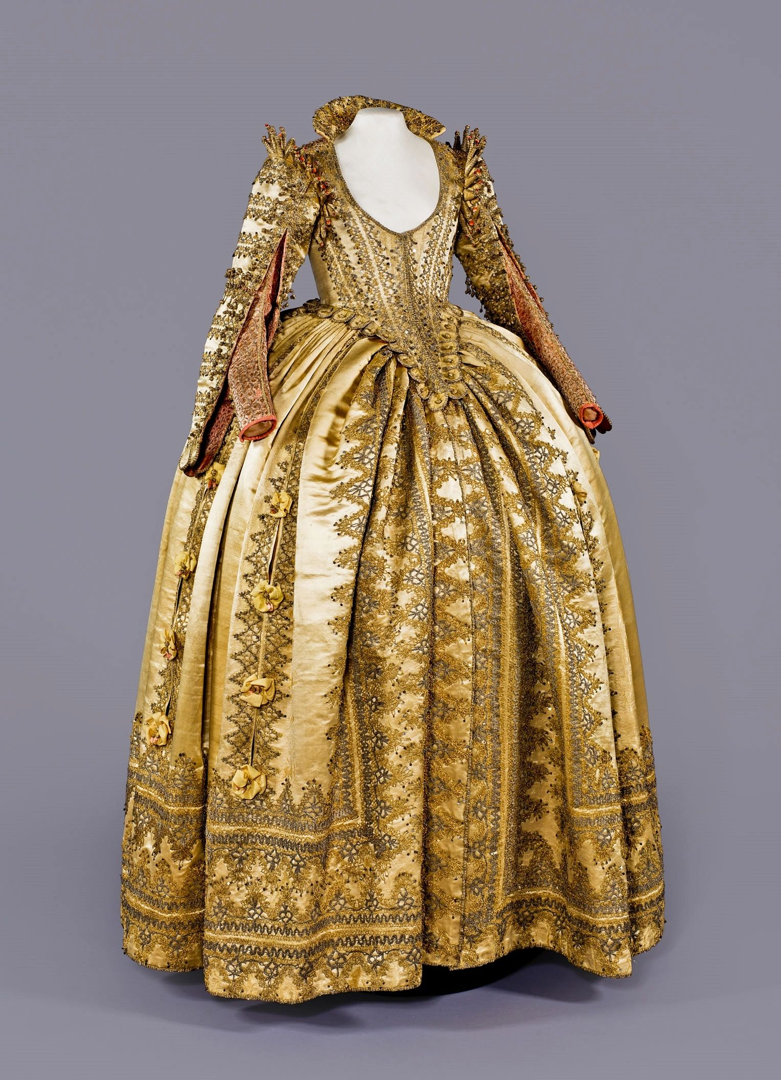 Ceremonial dress of magdalene sibylle of prussia electress of