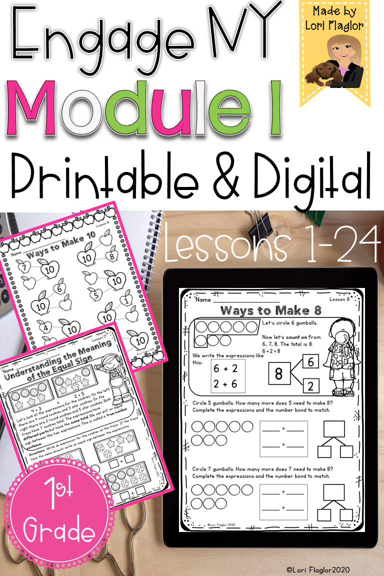 Engage Ny Grade 1 Module 1 Lessons 1 24 Printable And Digital Engage Ny Engage Ny Math 1st Grade Math [ 1152 x 768 Pixel ]