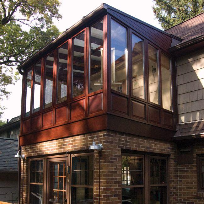 New Sunroom_Photof Conservatory Built On Upper Level Of