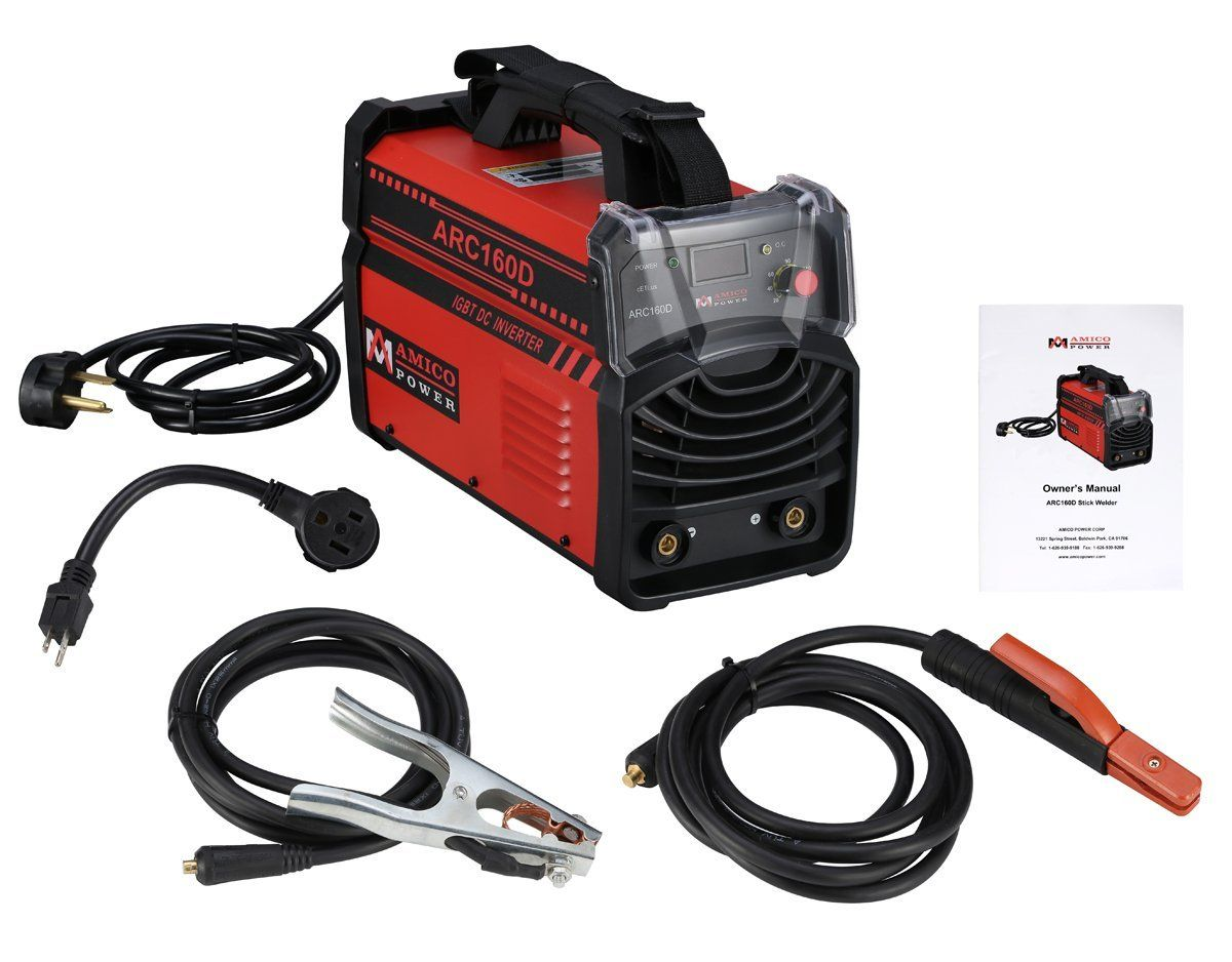 160 Amp Digital Display LCD Stick ARC Welder IGBT DC Inverter 115 /& 230V Welding Red