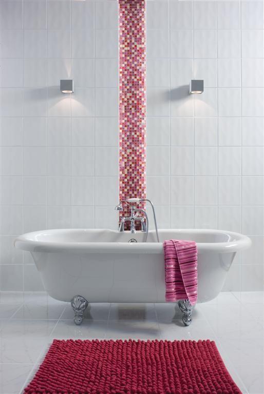 Simply™ Bumpy Tile (20cm x 25cm) | White wall tiles, White ...