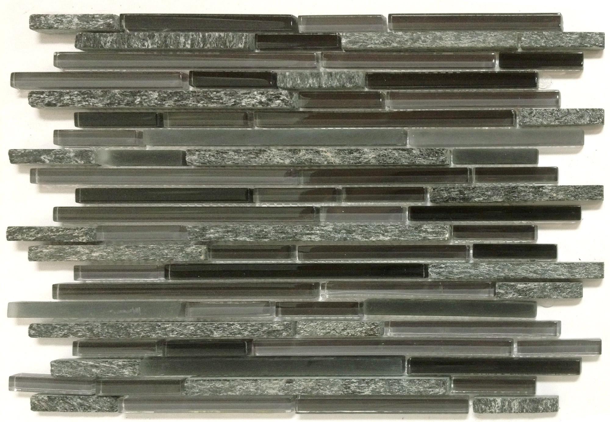 Mango Denver Charcoal Glass Tile Sheets Mg813 Glass Backsplash