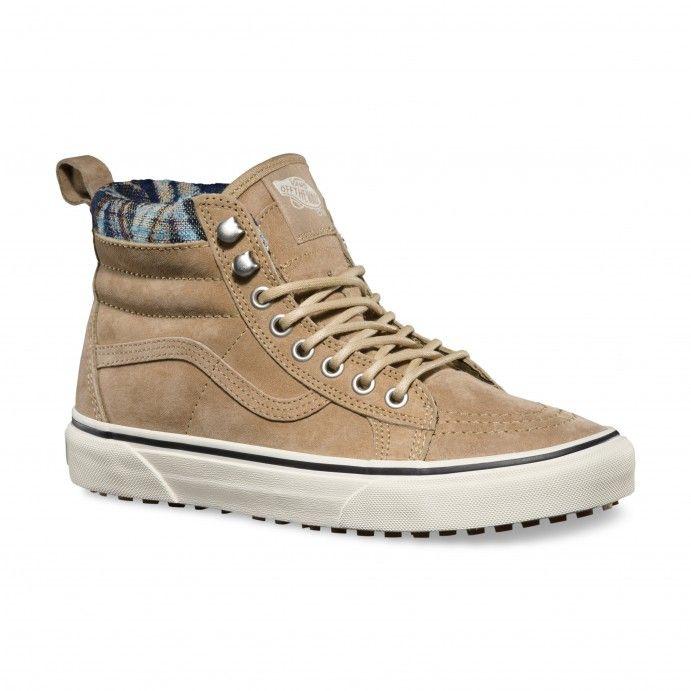 Unisex Shoes Vans SK8-Hi MTE (MTE) Khaki/Woven Chevron