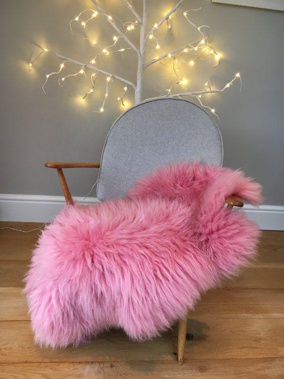 Rare Pink Icelandic Sheepskin Rug Throw Girls Room Etsy Buying Carpet Sheepskin Rug Carpet