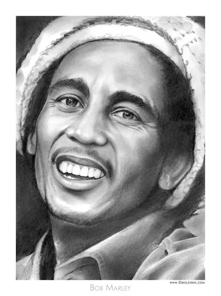Bob marley in pencil 2 by gregchapin on deviantart artist greg