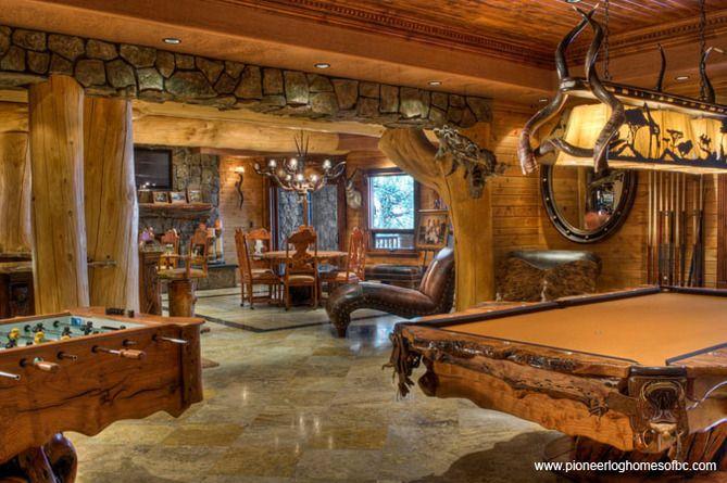 cabin ideas home ideas game rooms log cabins basement ideas dream