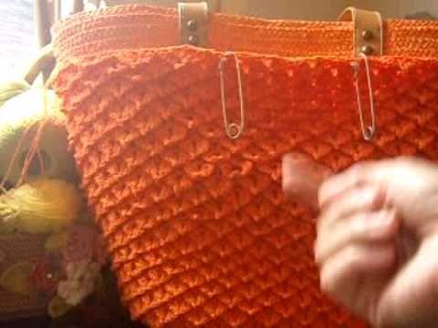 Crochê: Bolsa em Ponto Escama com Picô - 04/05