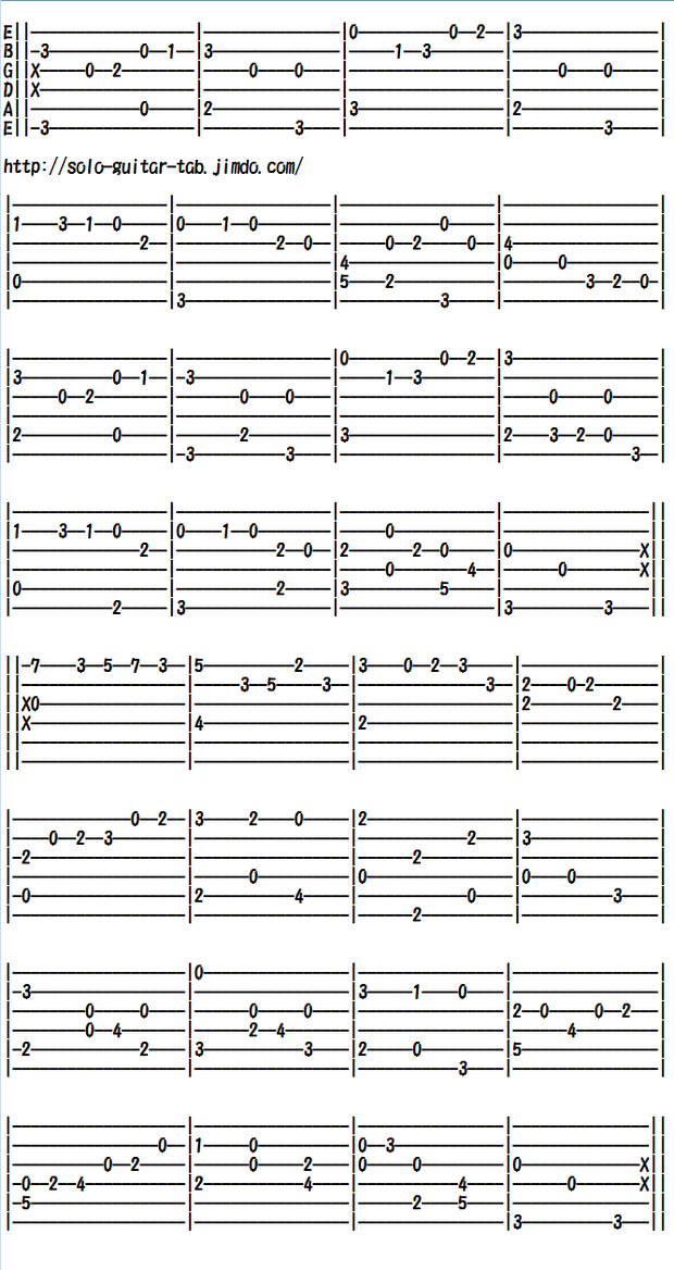 CLASSICS FOR THE GUITAR IN TAB Walker