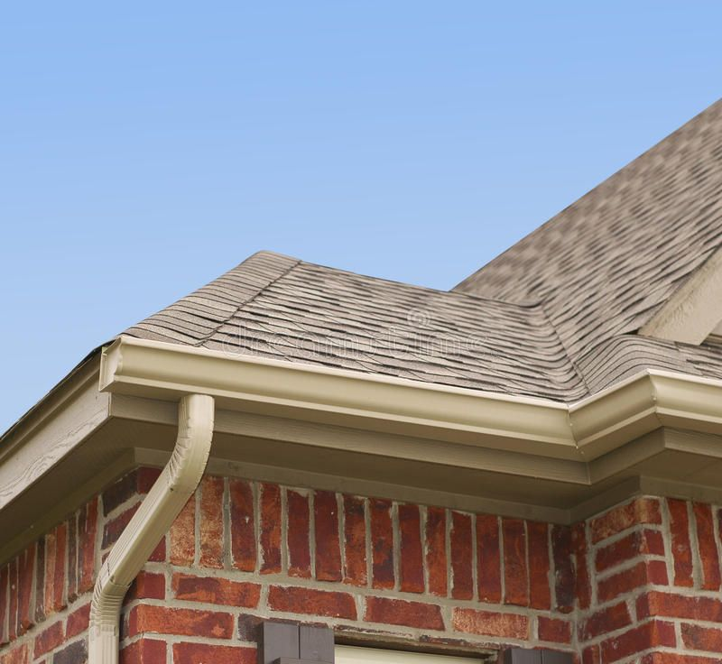 House Roof And Gutters House Roof Gutters And Downspout On The Corner Of A Hou Aff Gutters Roof House Ro Gutters House Roof Waterproofing Basement