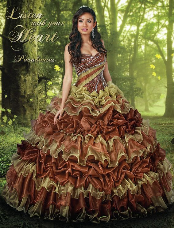 Disney Royal Ball Quinceanera Dress Pocahontas Style 41028