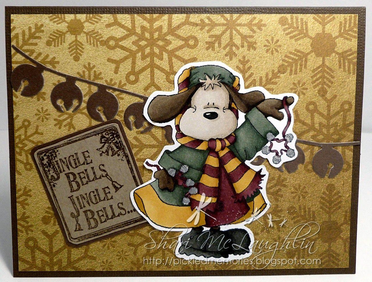 Jingle Bell Pup   Jingle bells, Jingle, Cards handmade