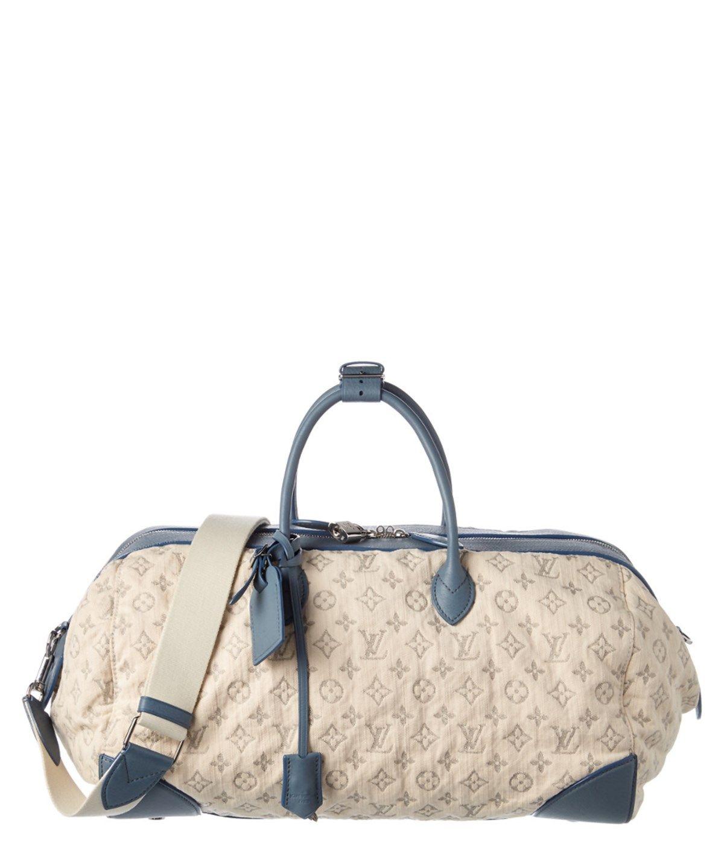 e5035b06f3b9 LOUIS VUITTON LOUIS VUITTON LIMITED EDITION BLUE MONOGRAM DENIM SPEEDY ROUND .   louisvuitton  bags  shoulder bags  hand bags  denim  lining