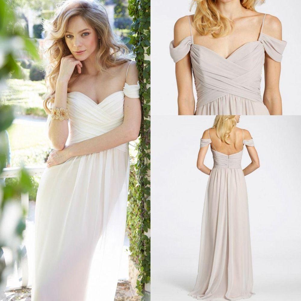 Cheap Spaghetti Straps Sweetheart Long Bridesmaid Dresses
