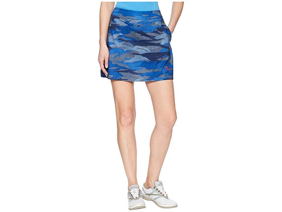 PUMA Golf Volition Skirt Peacoat Camo Womens Skirt PUMA took their classic performance skirt and added a patriotic touch This camo pattern is exclusive to the PUMA Golf X...