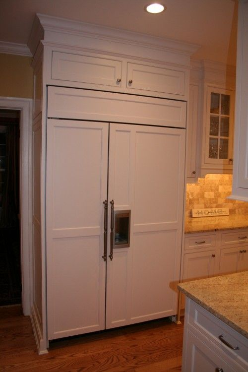 Appliance Cabinet Panels And Appliance Pulls Diy Kitchen Projects Antique White Kitchen Refrigerator Panels
