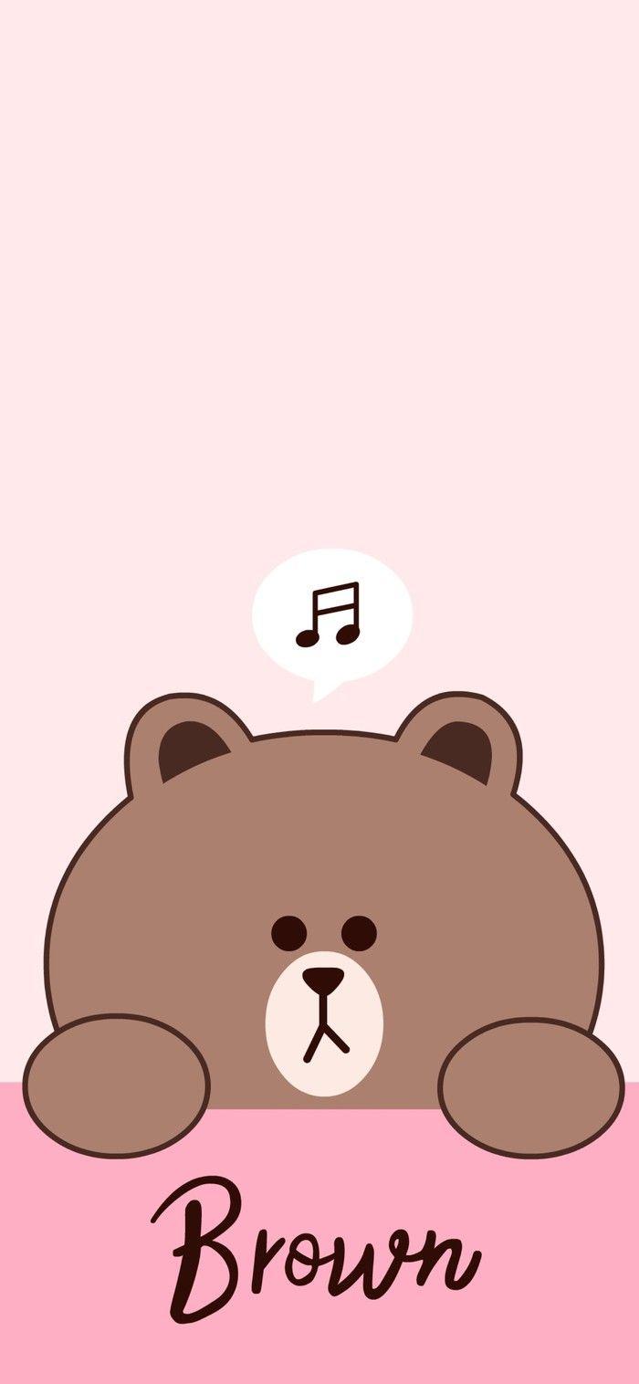 Pin Oleh Aesthetic Di Line Kartun Beruang Coklat Gambar