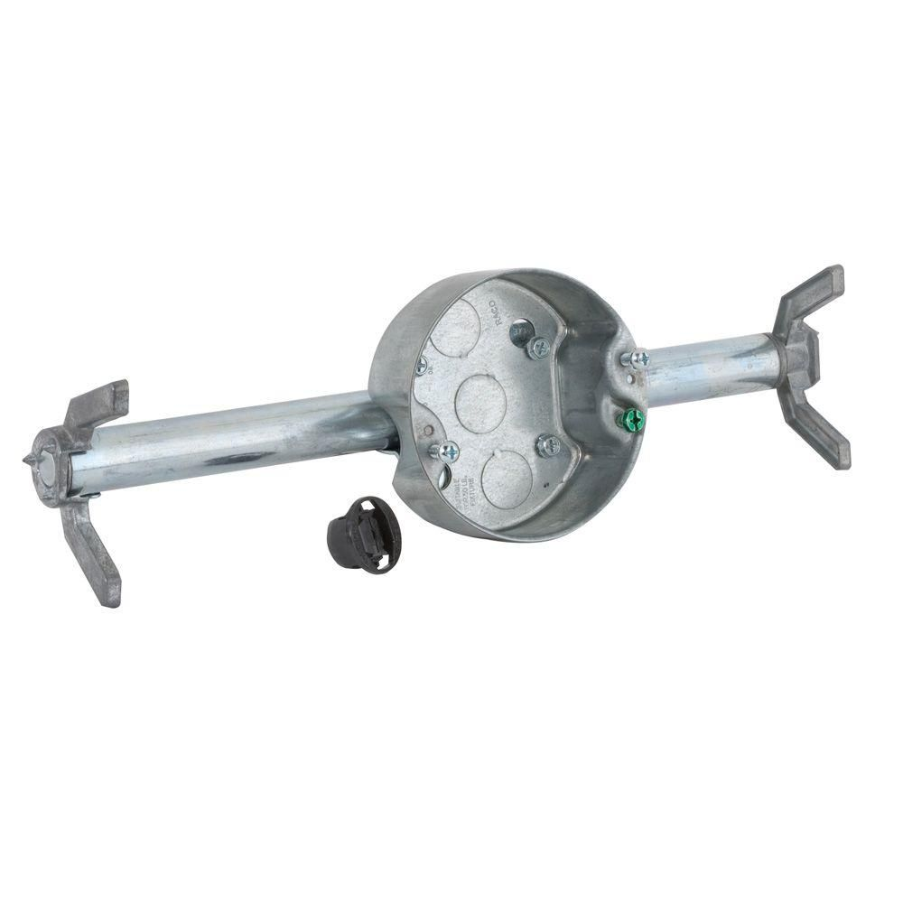 Retro Brace With 4 In Round Ceiling Rated Pan 1 1 2 In Deep With 1 2 In Ko S Gray Ceiling Fan Spray Paint Wood Best Spray Paint