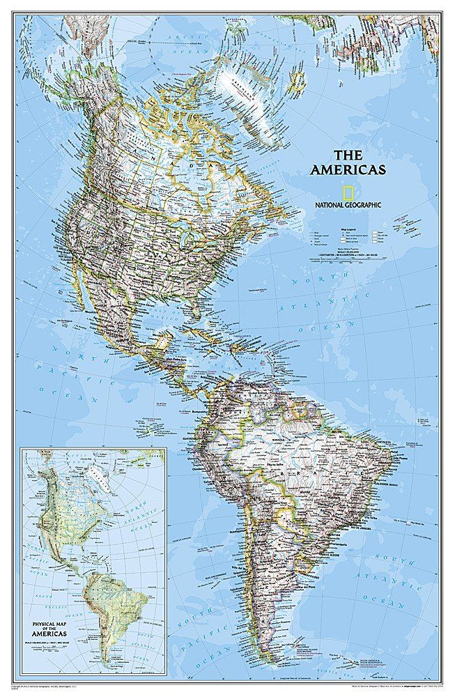 americas classic laminated by national geographic maps on laminated wall maps id=73997