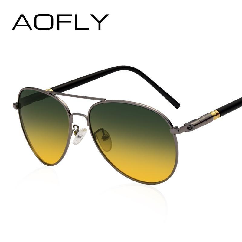 a0a49265f96 Polarized Sunglasses Men s Night Vision Glasses Driving Anti-Glare Metal  Frame Design Goggles  nightgoggles