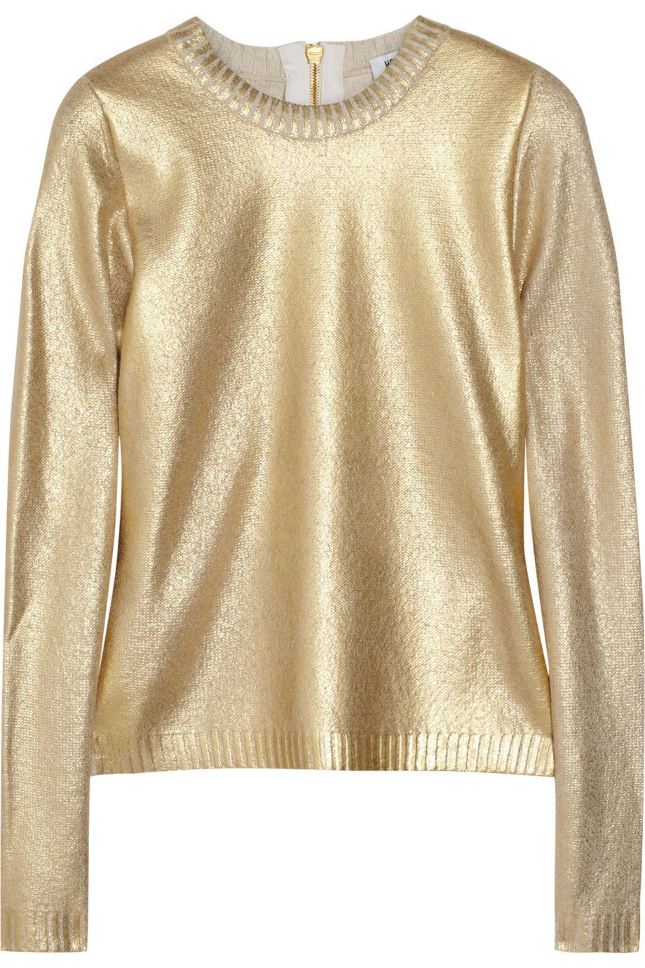 Metallic wool-blend sweater by Moschino | ❤ Fashion PieceS ...